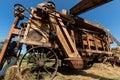 Ancient threshing machine for wheat Royalty Free Stock Photo