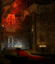 Ancient throne room 1 Royalty Free Stock Images