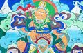 Ancient Tibetan wall painting art Royalty Free Stock Photo