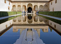 Ancient tower in the Alhambra Palace in spain Stock Image