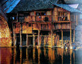 The ancient town of fenghhuang is located in western hunan province one most beatiful towns china here are Stock Photo