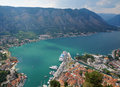 Ancient town in kotor bay montenegro Stock Photography