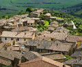 The ancient town of montalcino tuscany italy Stock Photo