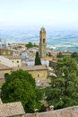 The ancient town of montalcino tuscany italy Royalty Free Stock Photo