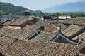 Ancient town roof tops of an in hunan china Stock Image