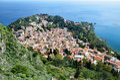 Ancient town Taormina on the Sicilian coast Royalty Free Stock Photo
