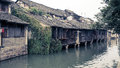 Ancient town wuzhen water village style integrity and maintain a complete pattern of yangtze river delta Stock Image