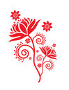 Ancient Traditional paper cut pattern Royalty Free Stock Photo