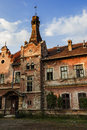 Ancient train station in brad town romania Royalty Free Stock Photography