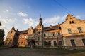 Ancient train station in brad town romania Stock Image