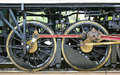Ancient train wheel engine on railway Royalty Free Stock Photos