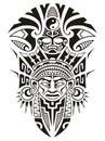 Ancient Tribal mask vector illustration