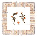 Ancient tribal people ethnic ornament frame for your design this is file of eps format Stock Image