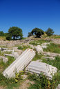 Ancient troy ruins in canakkale turkey Royalty Free Stock Photo