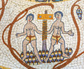 Ancient Two People Mosaic Jordan