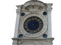 Ancient Venetian clock in San Marco Royalty Free Stock Photo