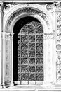 Ancient Venetian metal door. Royalty Free Stock Photo