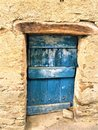 Ancient and vintage blue door, beam and fascination Royalty Free Stock Photo
