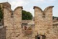 Ancient wall of corinaldo fortress in italy Stock Photo