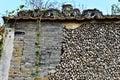 Ancient wall made of blue brick and shell chinese china asia Stock Photo
