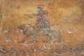 The ancient wall paintings at erebuni fortress armenia also known as arin berd of blood is an urartian fortified city located in Royalty Free Stock Image
