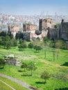 Ancient walls of Constantinople Royalty Free Stock Photos