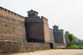 The ancient walls of Pingyao,Shanxi, China Royalty Free Stock Photo
