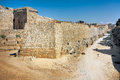 Ancient walls -  Rhodes Island Royalty Free Stock Image