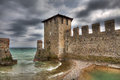 Ancient walls. Sirmione, Italy. Royalty Free Stock Image