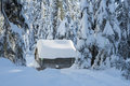 Warmup cabin on Cypress Royalty Free Stock Photo