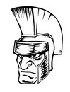 Ancient warrior in helmet for sport mascot design Stock Image