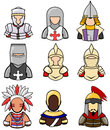 Ancient warrior icon collection set create by vector Royalty Free Stock Image