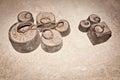 Ancient weights Kilo Stock Photo