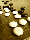 Ancient Weiqi or Go game Stock Photography