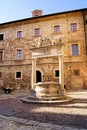 Ancient well in Montepulciano Stock Photography