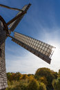 Ancient windmill vane with covered in sunlight Stock Photo