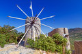Ancient windmills lasithi plateau crete greece Royalty Free Stock Photography