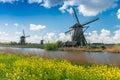 Ancient windmils near Kinderdijk, Netherlands Royalty Free Stock Photo