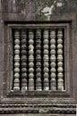 The ancient window at Angkor wat Royalty Free Stock Photo