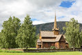 Ancient wood church Royalty Free Stock Images