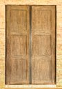 Ancient wood door antique wooden doors look pretty good Stock Image