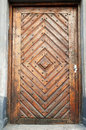Ancient wooden door Stock Images