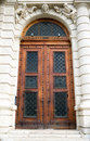 Ancient wooden door design Stock Photography