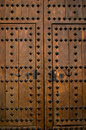 A ancient wooden door detail. Royalty Free Stock Photo
