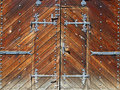 Ancient wooden gate Stock Image