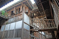 Ancient wooden house in china Royalty Free Stock Photos