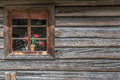 Ancient Wooden House With Window