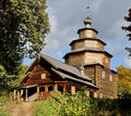 Ancient wooden Russian church Royalty Free Stock Image