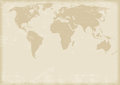 Ancient world map in antique style vector Stock Photography