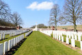 Ancre british cemetery beaumont hamel france april st where commonwealth casualties of the first world war are buried or Royalty Free Stock Photography